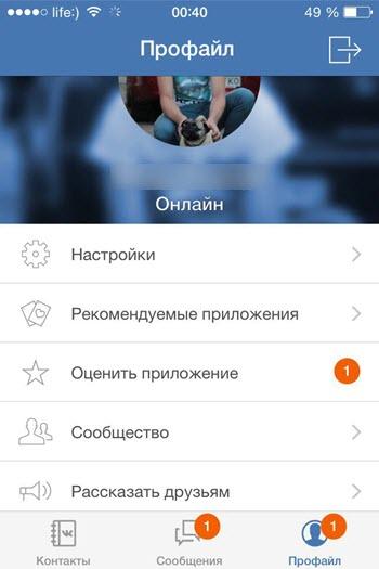 Невидимка ВКонтакте для айфона