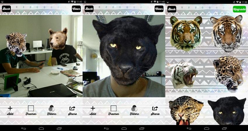 Приложение, где можно вставлять лица животных в фото