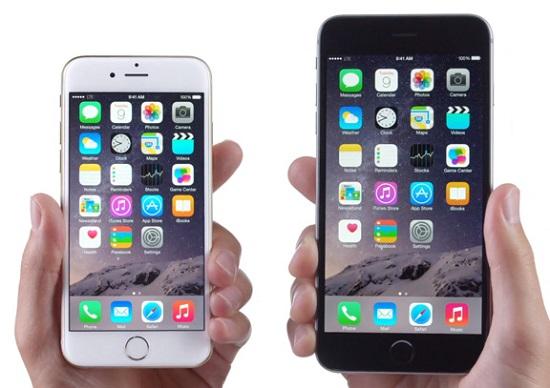 размер экрана айфон 6, 6s, 6 plus, 6s plus