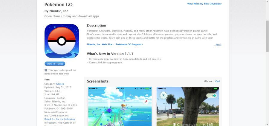 Покемон Го в App Store