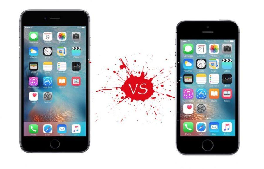 Сравнение iPhone SE и 6S