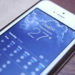 Как настроить погоду на iPhone?
