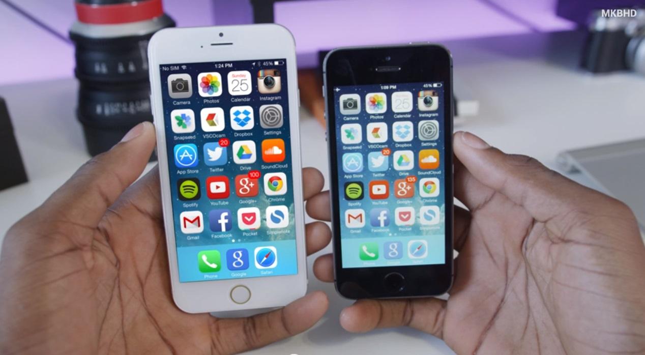 Сравнение айфона 5s и 6s