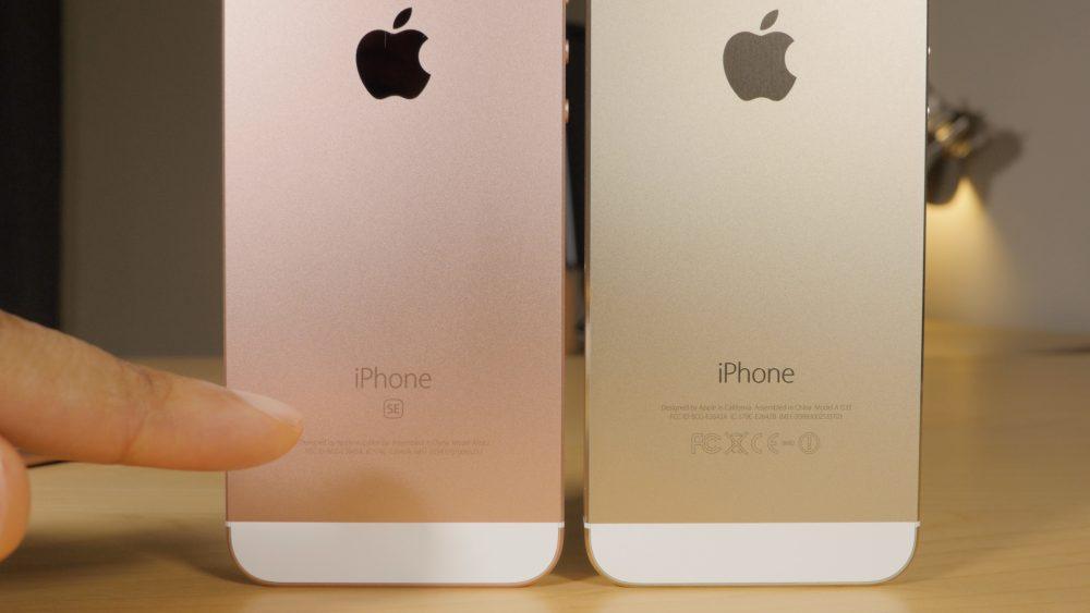 Сравниваем внешний вид iPhone 5S и iPhone SE