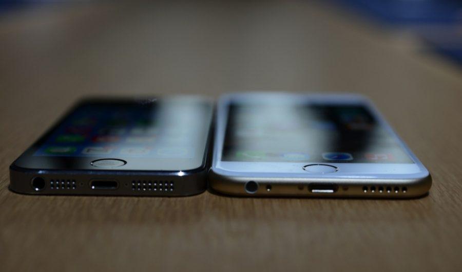 Сравнение дизайна и размеров айфонов 5S и 6S