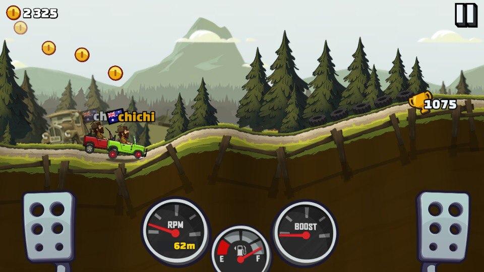 Графика и физика в Hill Climb Racing 2