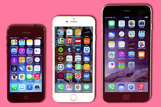 Сравнение внешнего вида айфона 6 и 5
