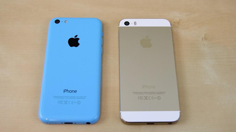 внешний вид айфон 5S и айфон 5C