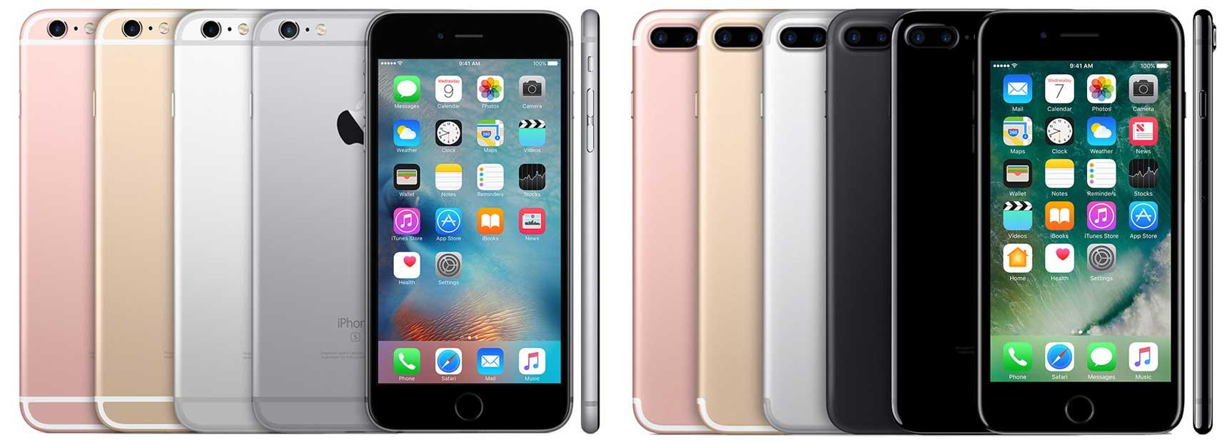 разница во внешнем виде между iPhone 7 PLUS и iPhone 6S PLUS