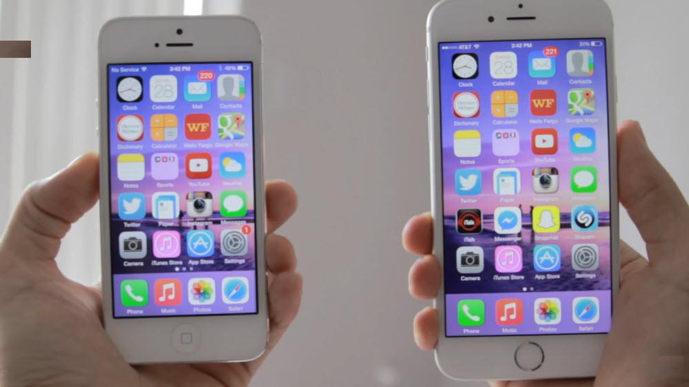 сравнение производительности айфон 6 и 5