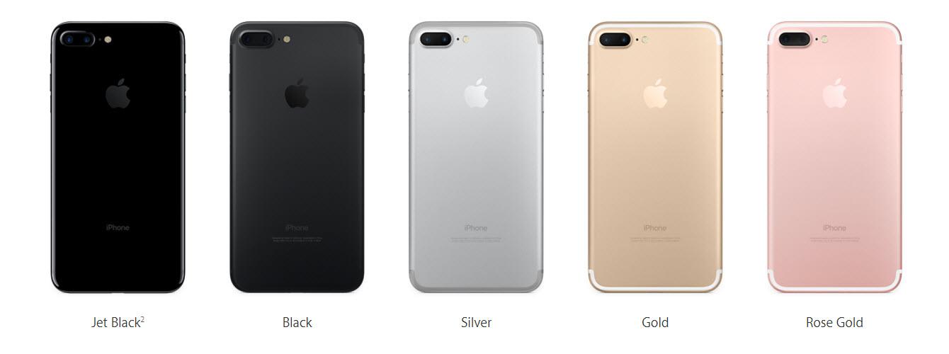 Какие цвета iphone 7 plus