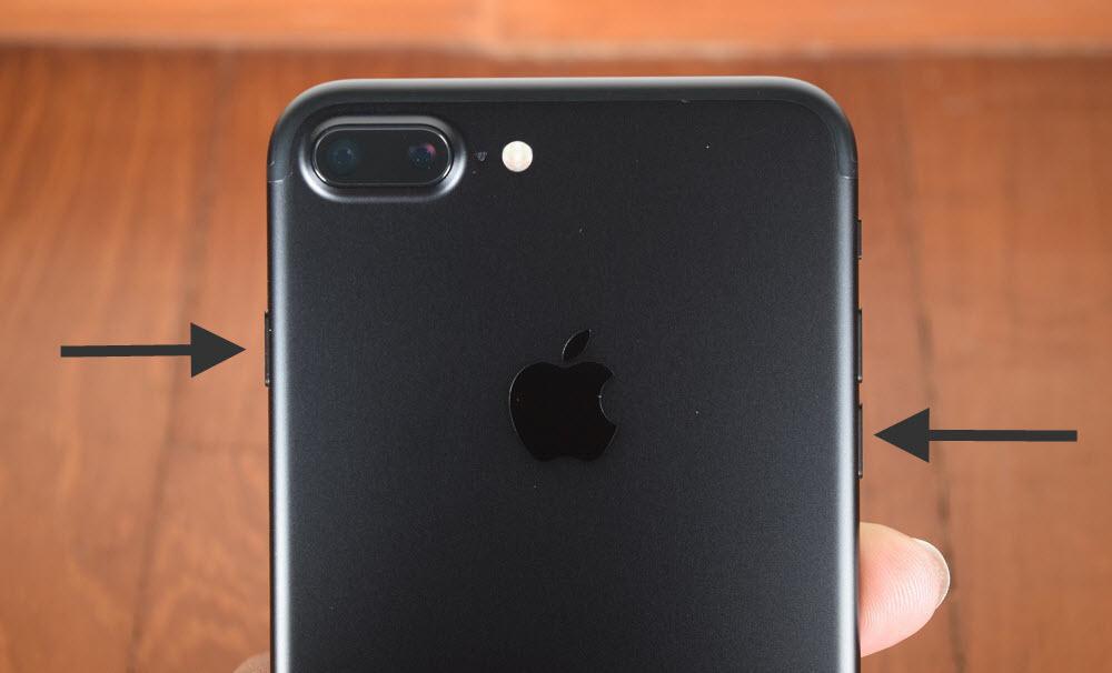 Restart iPhone 7 and iPhone 7 PLUS