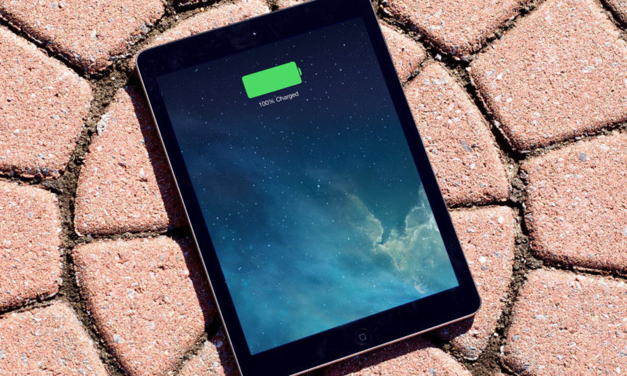 Емкость аккумулятора на iPad