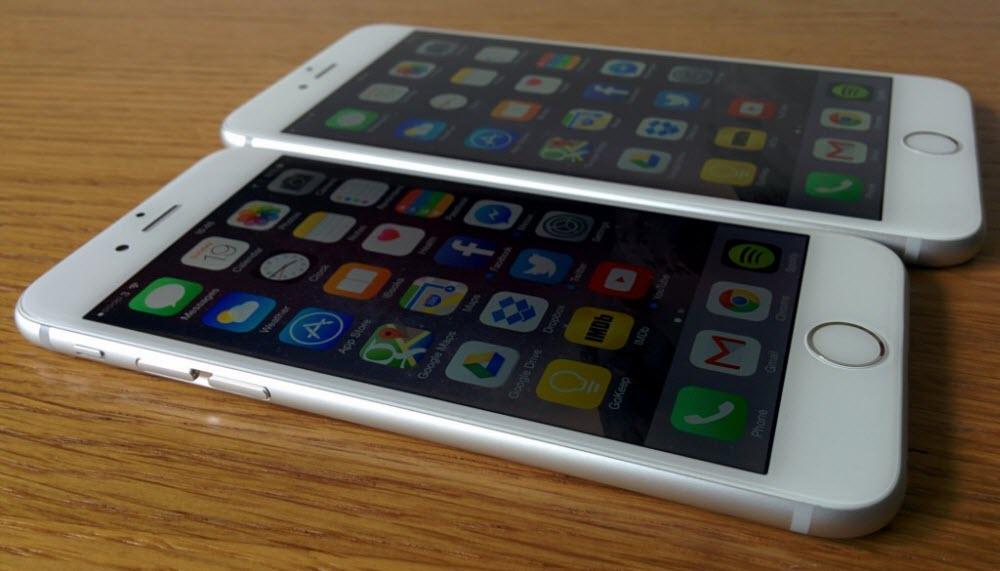 сравнение внешнего вида айфона 6S и айфона 6S плюс