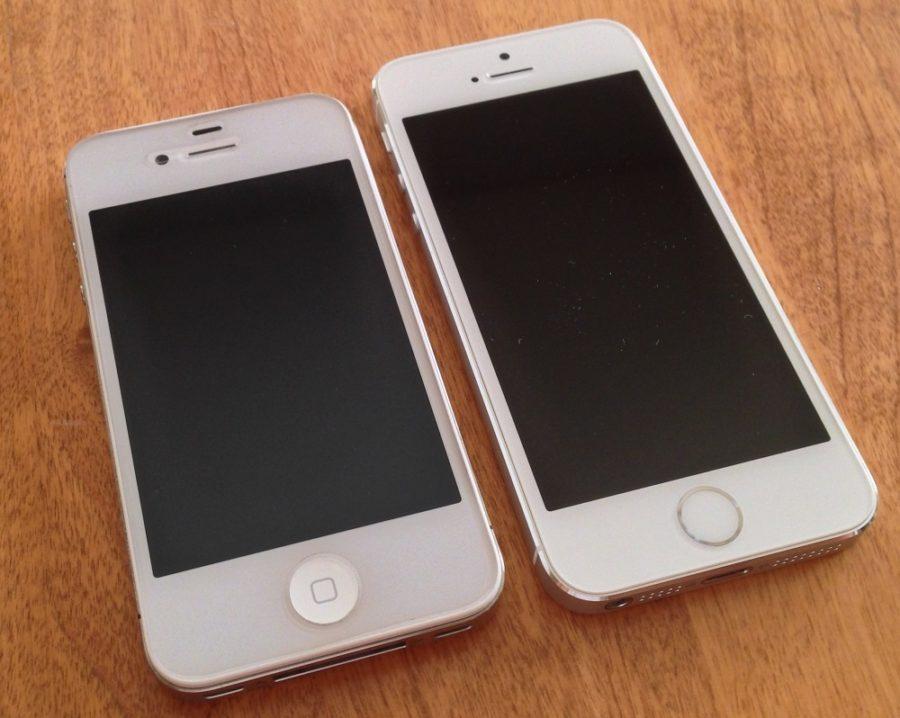 сравнение внешнего вида iPhone 4S и iPhone 5S