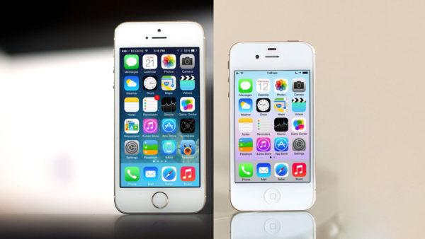 сравнить айфон 4s и айфон 5s