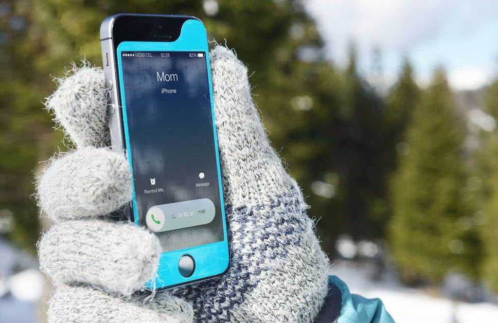 Айфон на морозе