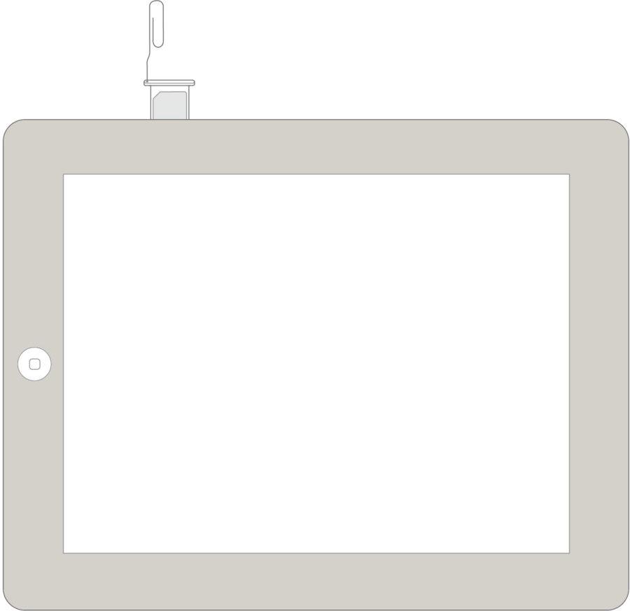 iPad местонахождение слота