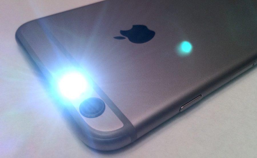 light on iphone