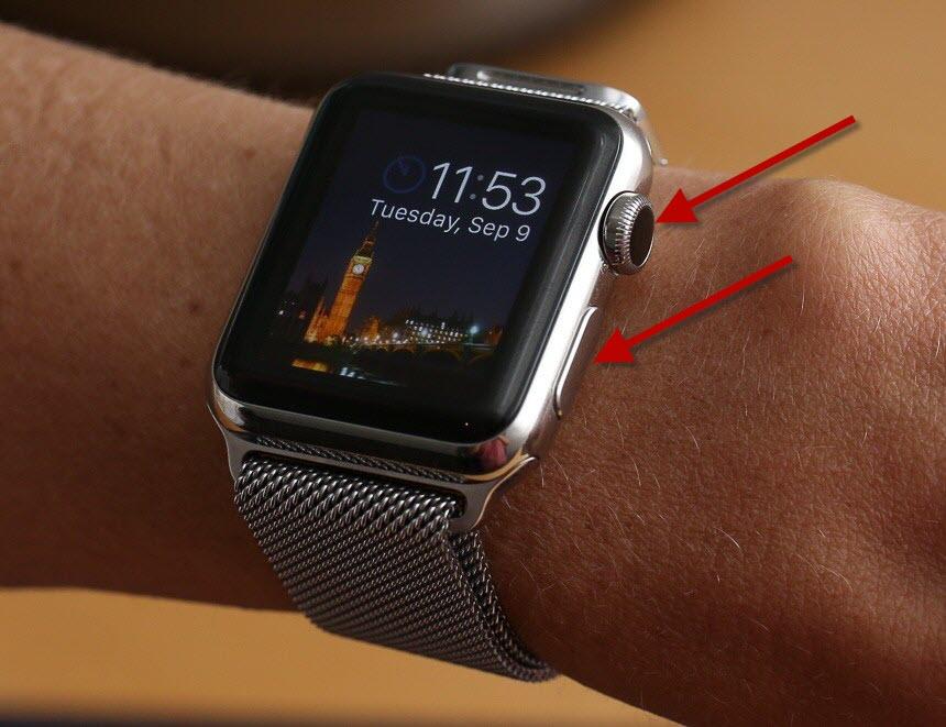 делаем prtsc на apple watch