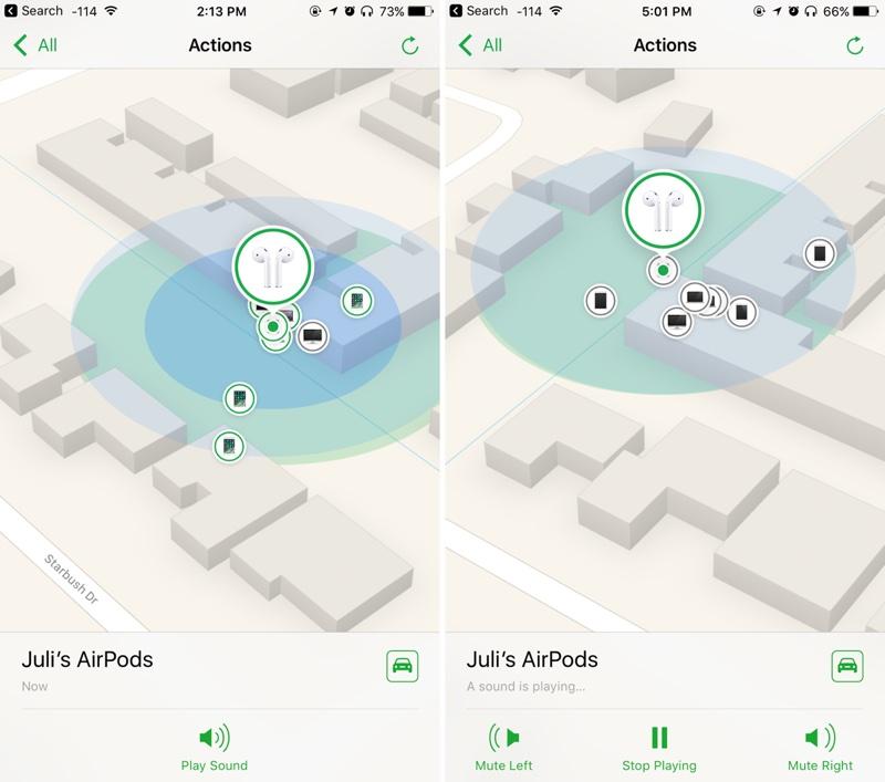 Новая функция найти AirPods