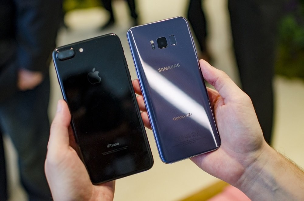 Appearance Samsung S8 VS iPhone 7