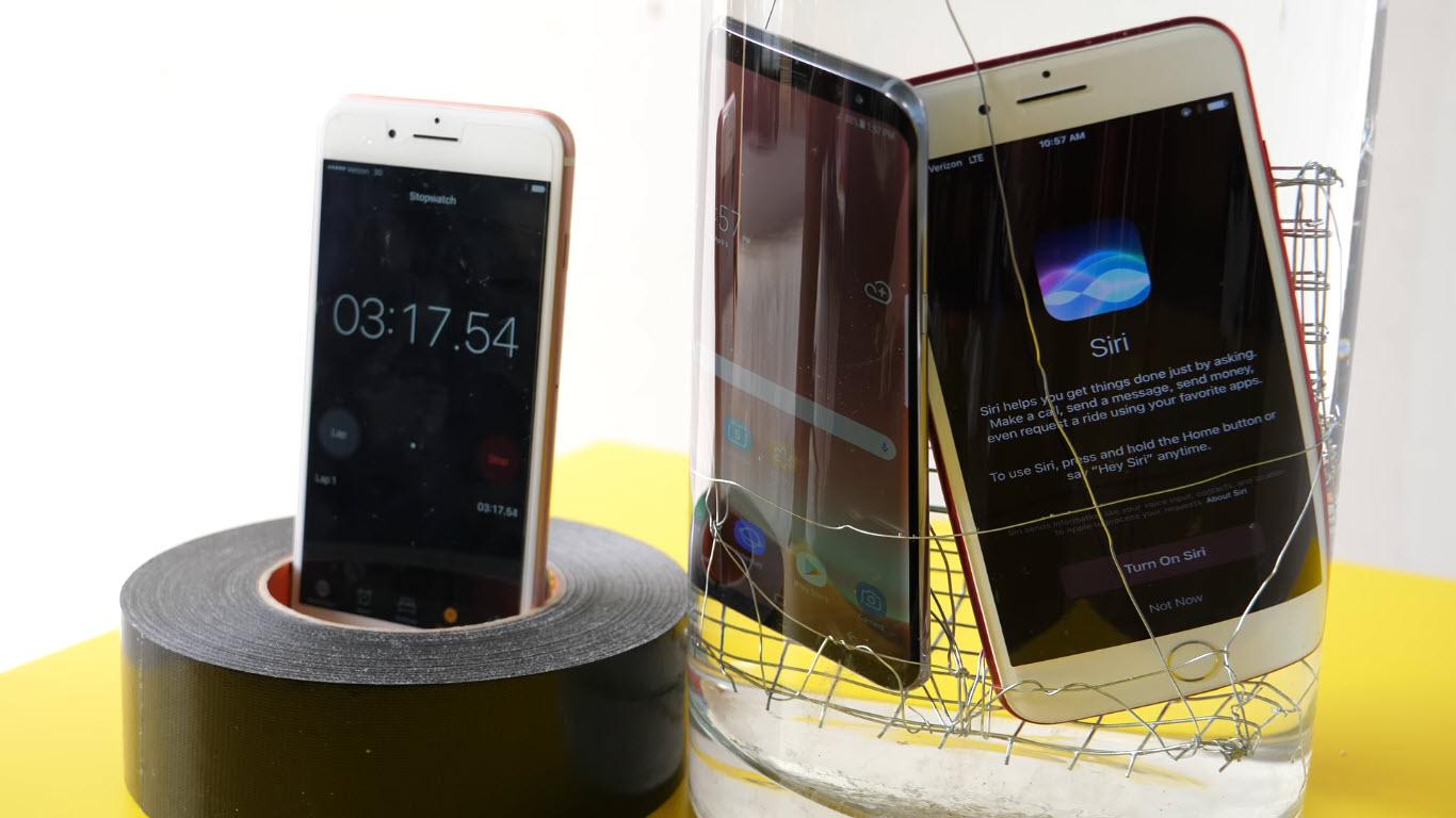 Waterproof iPhone 7 PLUS VS Samsung Galaxy S8