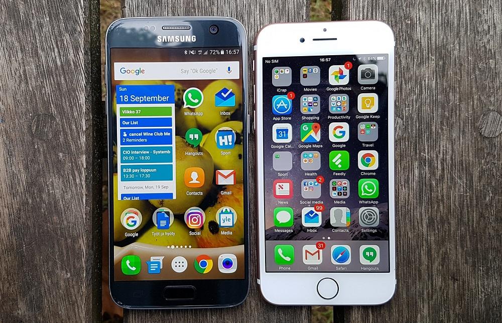 Отличия Samsung Galaxy S7 от iPhone 7