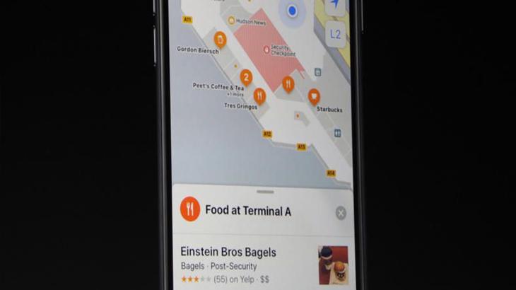 Схема в Apple Maps