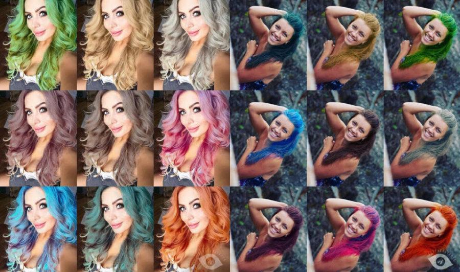Приложение в котором можно менять цвет волос