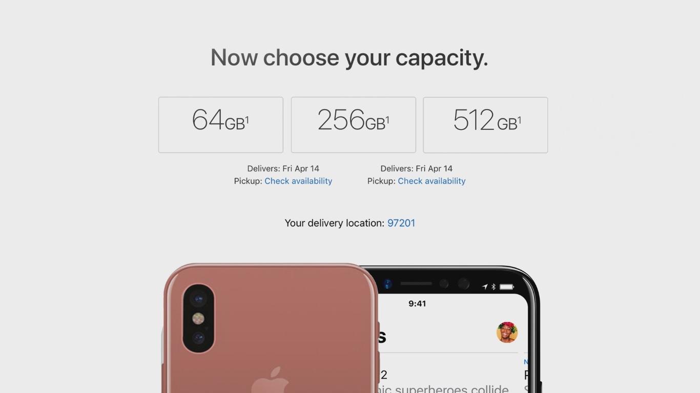 Объем памяти Айфон 8