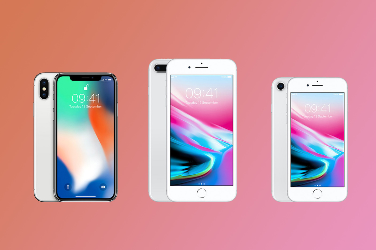 iPhone 8, iPhone 8 PLUS и iPhone X