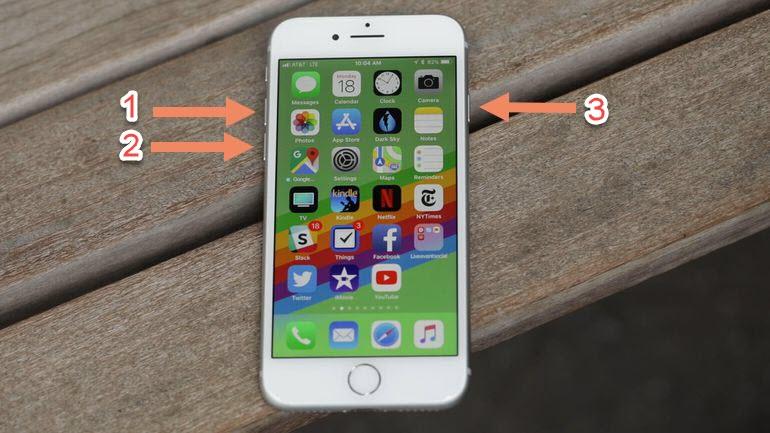 Restarting iPhone 8
