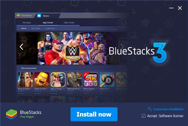 Установка BlueStacks