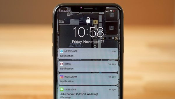 Как скрыть текст сообщения на iPhone на экране блокировки