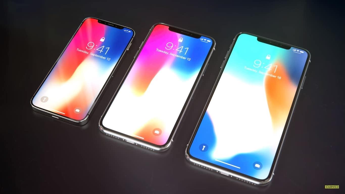 Концепт будущих iPhone 2018 года