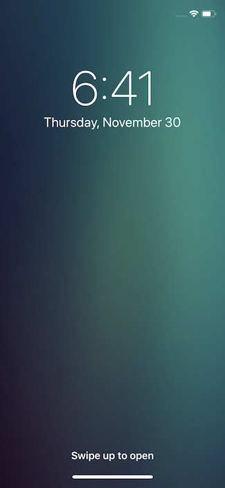 Экран блокировки iPhone 10 без кнопок Фонарика и Камеры