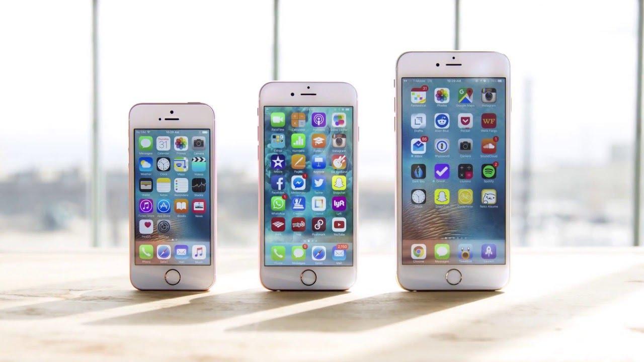 iPhone SE, iPhone 6S, iPhone 6S Plus