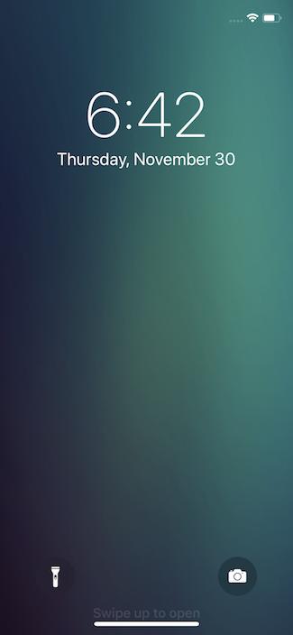 Экран блокировки iPhone X