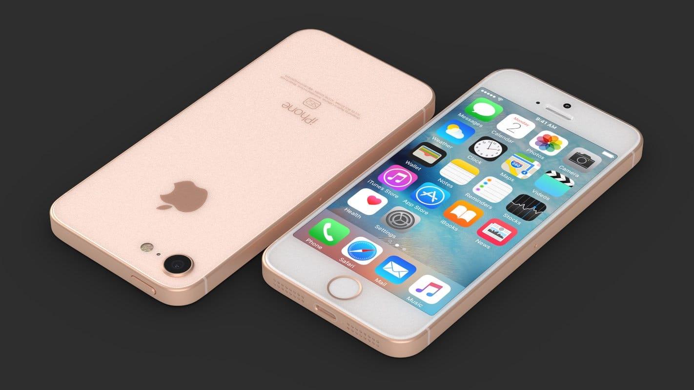 Концепт iPhone SE в стеклянном корпусе