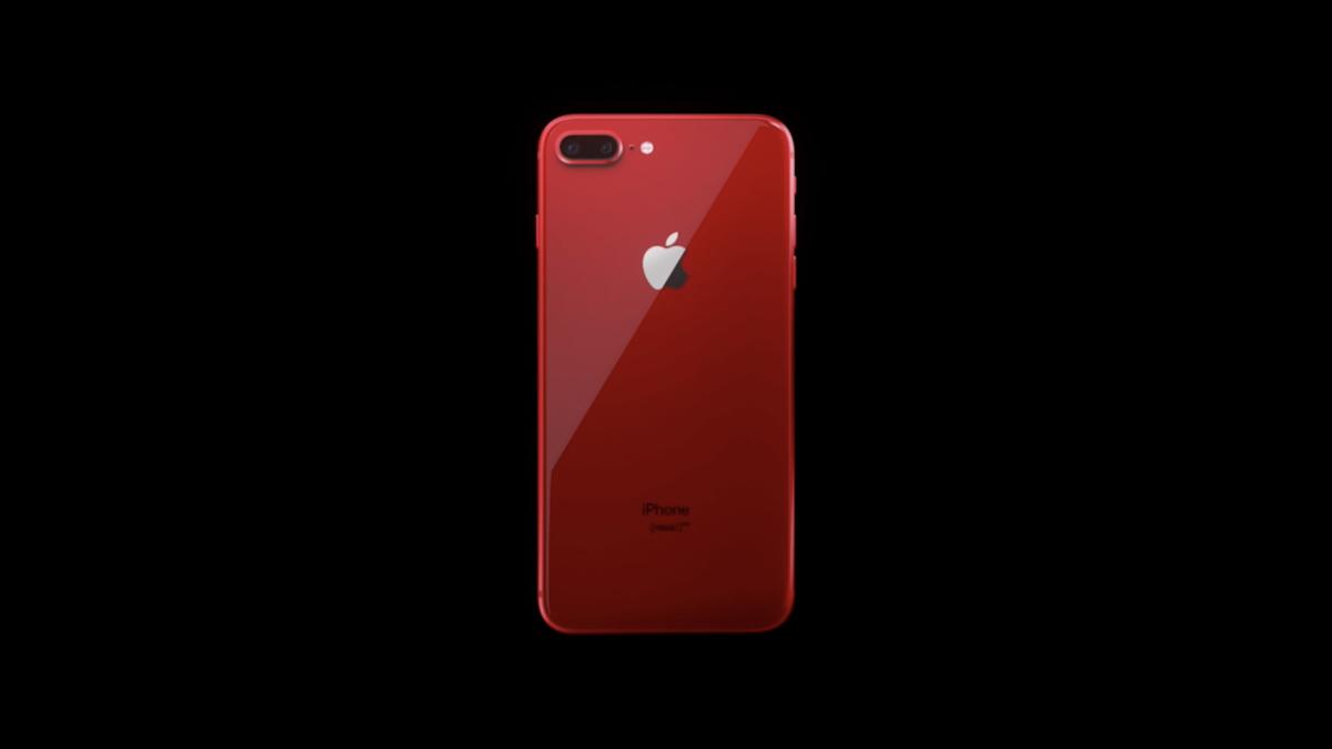 Скриншот из рекламы iPhone 8 (PRODUCT)RED