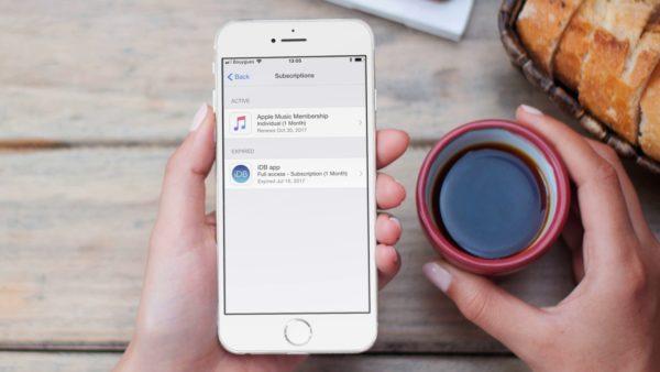 как отменить платную подписку в app store