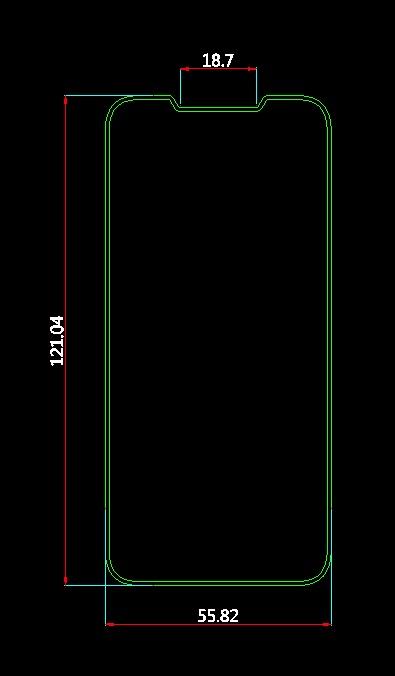 Схема передней части iPhone SE 2 от Olixar