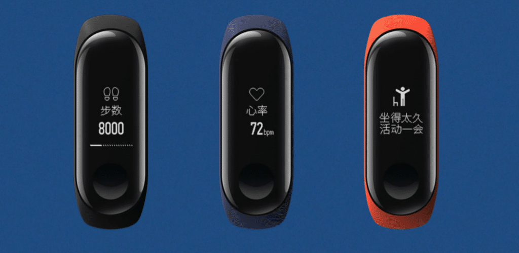 Colors of Mi Band 3