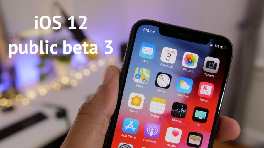 ios 12 public beta 3