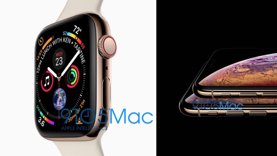 Apple Watch Series 4 and iPhone XS by 9to5mac