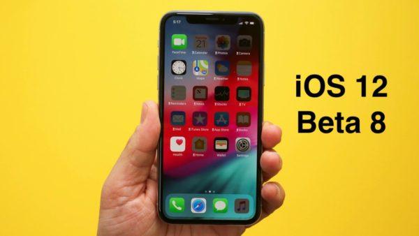 ios 12 beta 8