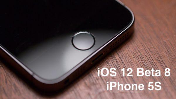 ios 12 beta 8 iphone 5s