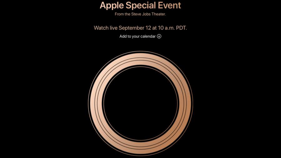 Скриншот приглашения Apple с официального сайта
