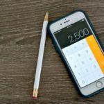 Как удалить одну цифру в калькуляторе iPhone?